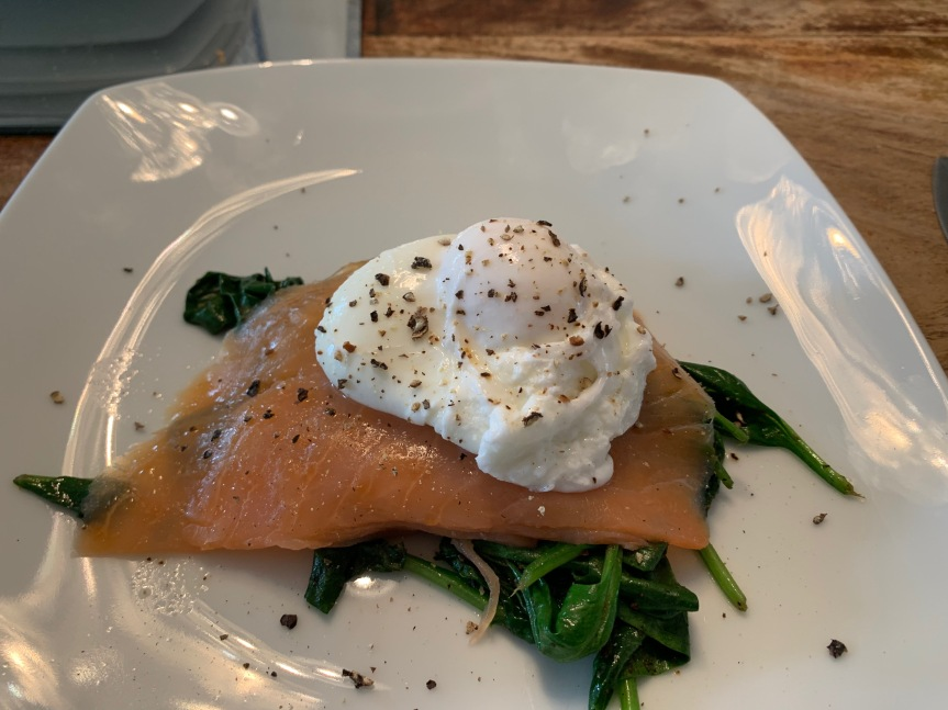 Smoked salmon and spinach