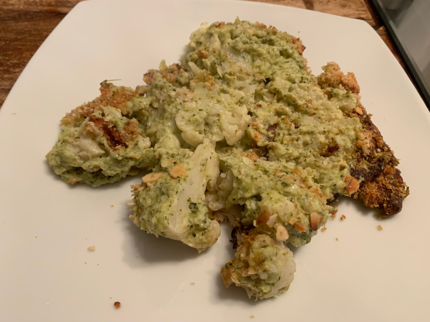 Cauli broccoli cheese