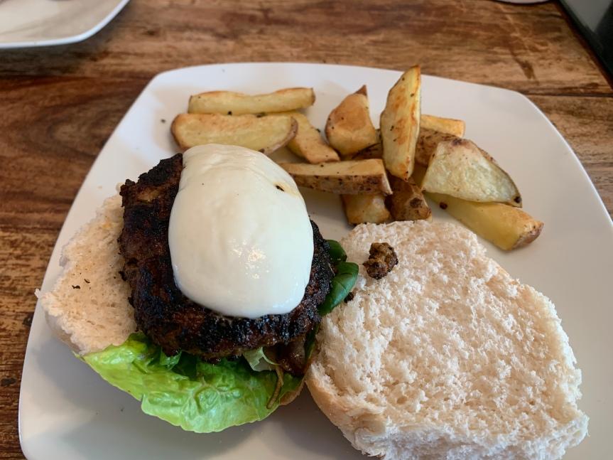 Meditteranean beef burger